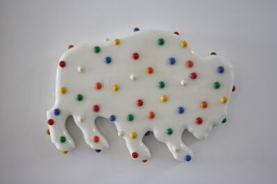 Walter Robinson, 'White Animal Cookie', 2019