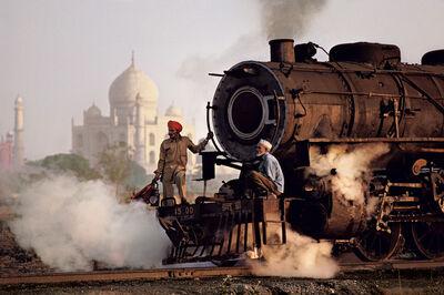 Steve McCurry, 'Taj and Train, India ', 1983