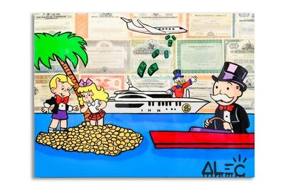 Alec Monopoly, 'Monopz team in coin island', 2019