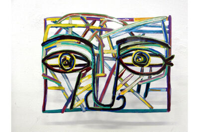 David Gerstein, 'Graffiti face 3', 2012