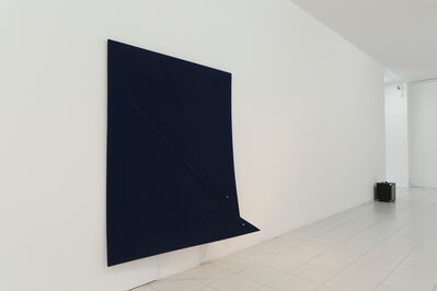 Naama Tsabar, 'Work On Felt (Variation 11), Dark Blue', 2016