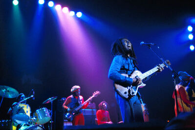 David Burnett, 'Bob Marley and The Wailers in Brussels, Belgium, on their Exodus Tour in Europe', 1977