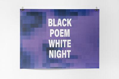 Emo de Medeiros, 'Black Poem White Night (Charles Baudelaire)', 2018