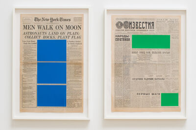 Marine Hugonnier, 'Art For Modern Architecture (New York Times – Moon Landing – 21/07/69 & Izvestiya – Moon Landing – 21/07/69)', 2018