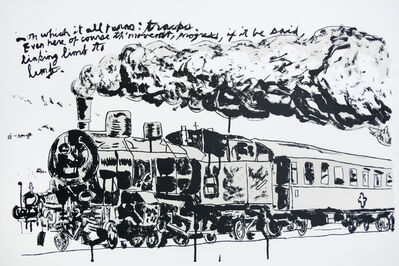 Raymond Pettibon, 'Untitled (Train)', 2018