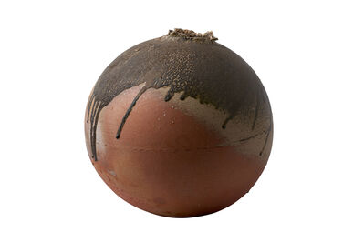Shiro Tsujimura, 'Sphere shaped Jar,natural ash glaze'