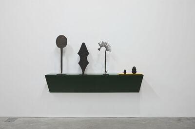Haim Steinbach, 'Untitled (3 African Tribal Currency, 2 Kongs)', 2012
