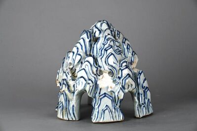 Unknown, 'Incense burner in a shape of a mountain in blue and white', Zhengtong to Tianshun, Ming Dynasty(1436, 1464)