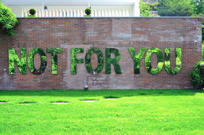 Monica Bonvicini, 'NOT FOR YOU', 2009