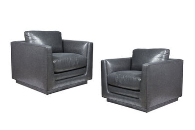 Arthur Elrod, 'Pair of Club Chairs Designed by Arthur Elrod', ca. 1960
