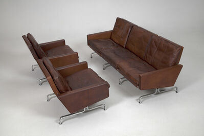 Poul Kjærholm, 'Sofa, Model no. PK-31-3 and Pair of Armchairs, Model no. PK-31-1', ca. 1960