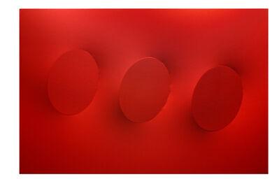 Turi Simeti, '3 ovali rossi', 2020