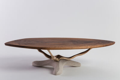 Markus Haase, 'Bronze, Walnut, and Limestone Dining Table, USA', 2018