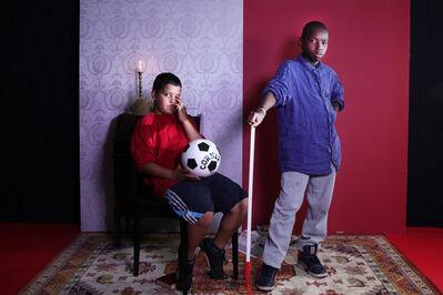 Halida Boughriet, 'Jeunes hommes au ballon', 2014