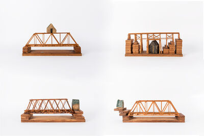 Siah Armajani, 'Four Houses for Four Conditions: House Above the Bridge; House Below the Bridge; House Before the Bridge; House After the Bridge', 1974-1975