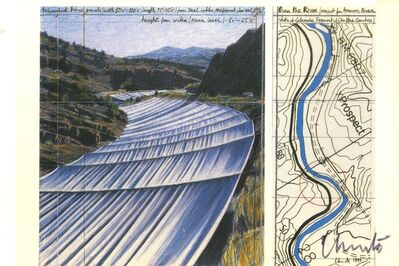 Christo, 'Over the River, Project for the Arkansas River, Colorado (Hand Signed)', 1999