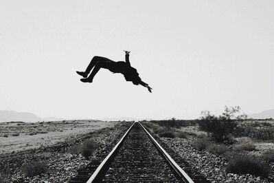 Tyler Shields, 'Train Tracks (Self-Portrait)', ca. 2013