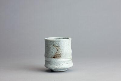 Randy Johnston, 'Yunomi, nuka glaze over iron herringbone impressed rope pattern', n/a