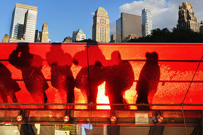 Mitchell Funk, 'Red Vail Bryant Park', 2013