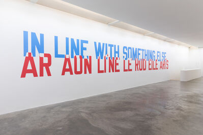 Lawrence Weiner, 'IN LINE WITH SOMETHING ELSE', 2020