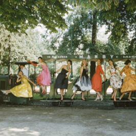 Mark Shaw, 'Models on Train, Bois de Boulogne, Paris', 1957