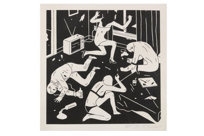 Cleon Peterson, 'Junky' (White)', 2015