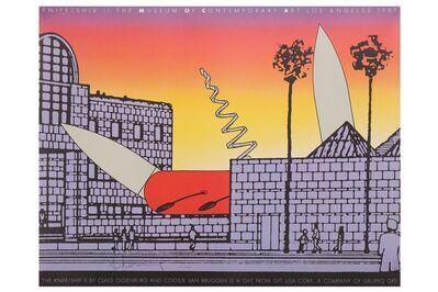Claes Oldenburg & Coosje van Bruggen, 'The Knife/Ship II', 1988