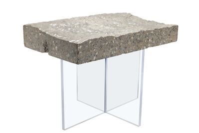 Benjamin Rollins Caldwell, 'Found Concrete Side Table Acrylic Base', 2010