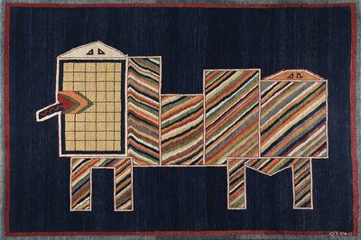 Parviz Tanavoli, 'Lion on Blue II', 1977