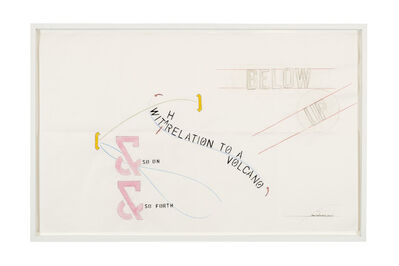 Lawrence Weiner, 'Below Up – With Relation to a Volcano', 2010