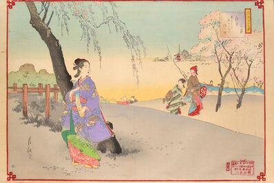 Ogata Gekkō, 'March', 1890