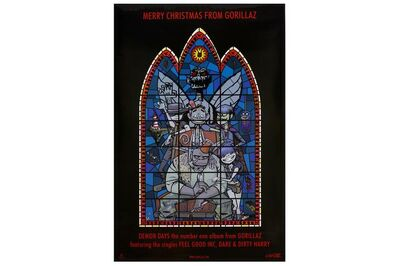 Jamie Hewlett, 'Gorillaz - Stained Glass Poster'