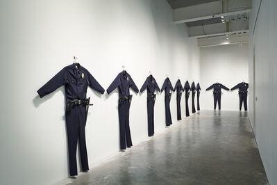 """Chris Burden, 'L.A.P.D. Uniforms. Installation view, """"Chris Burden: Extreme Measures"""" at New Museum, New York, 2013', 1993"""
