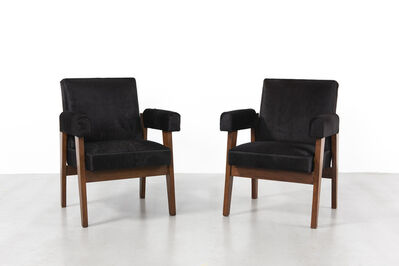 Pierre Jeanneret, 'Pair of Advocate chairs', 1955-1956