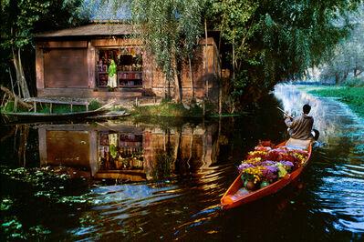 Steve McCurry, 'Flower Vendor on Dal Lake', 1999