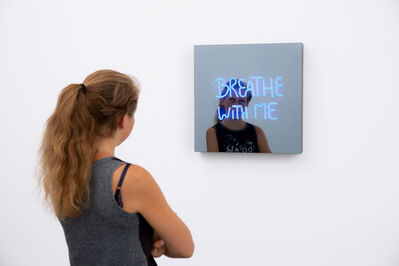 Jeppe Hein, 'BREATHE WITH ME (handwritten)', 2018