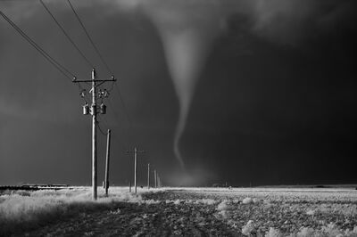 Mitch Dobrowner, 'Tornado Crossing Power Poles', 2016