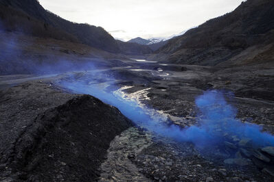 Isabelle & Alexis, 'Chambon - Blue cloud in an empty river basin ', 2013