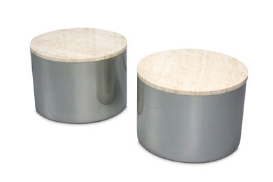 Paul Mayen for Habitat, 'A pair of steel drum tables', circa 1970