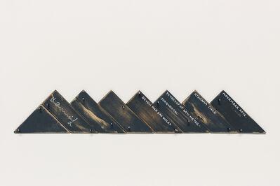Hamish Fulton, 'Seven One Day Walks To The Top Of 4971 Metre Jorquencal Atacama Chile November 2012', 2012
