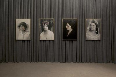 Francesco Vezzoli, 'Installation view: Olga Forever (Olga Picasso, London, ca. 1919), (Olga Picasso, bal des Beaumont, 1924)'