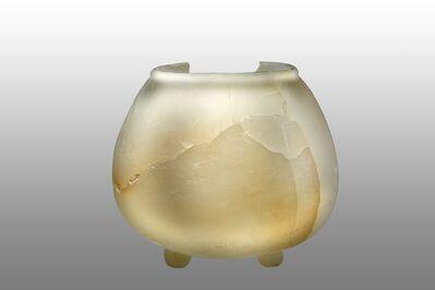 'Pot tripode en albâtre (Tripod pot in alabaster)', 600-900 AD