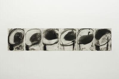 Miriam Cahn, 'köpfe gesenkt, m. 24.06.1985', 1985