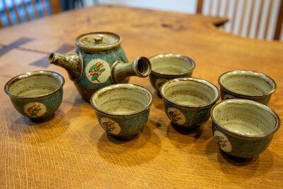 Tatsuzo Shimaoka, 'Kyusu Teapot with 6 Cups, Mingei Style', ca. 2000