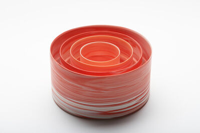 Inhwa Lee, 'Shadowed Color: red cylinder set', 2013