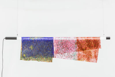 Kueng Caputo, 'Hanging Particle Lamp - Blue Pink Red', 2018