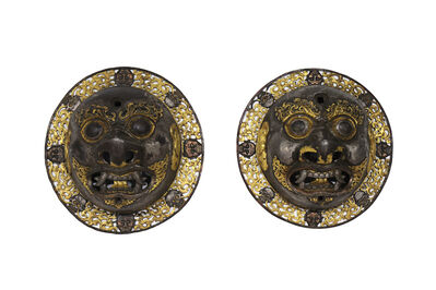 Unknown Tibetan, 'A pair of door bosses', Ca. 16th–17th century