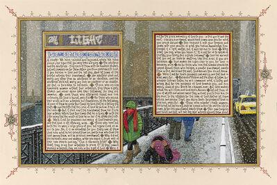 Sandow Birk, 'American Qur'an: Sura 24 A-C, triptych', 2013
