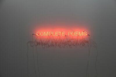 Jorge Méndez Blake, 'Complete Poems', 2015