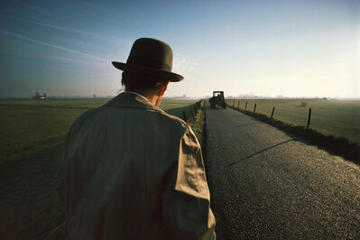 Gerd Ludwig, '#8 - Joseph Beuys on the levee near Düffelward', 1978